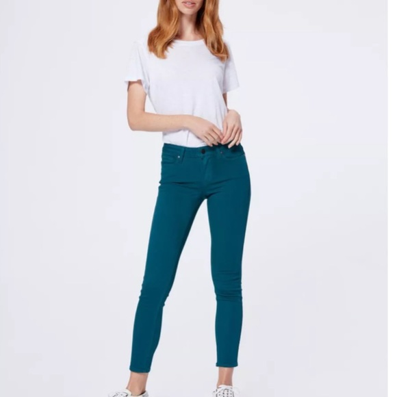 New PAIGE Verdugo Ankle Jean In Marine Blue 28